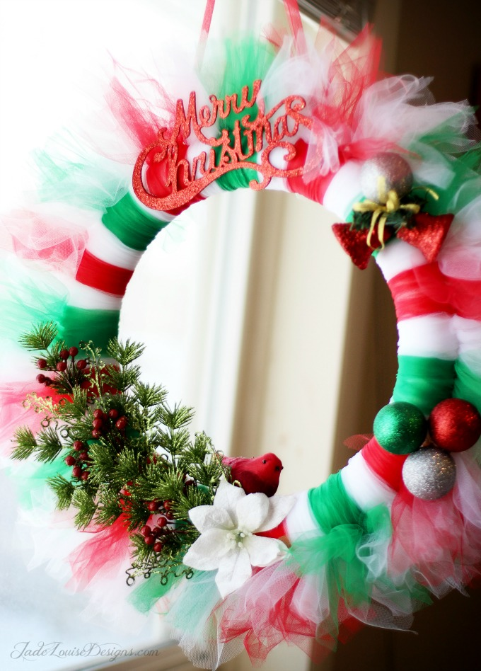 pinterest christmas craft ideas wreath tutorial tutu wreath craft 5173