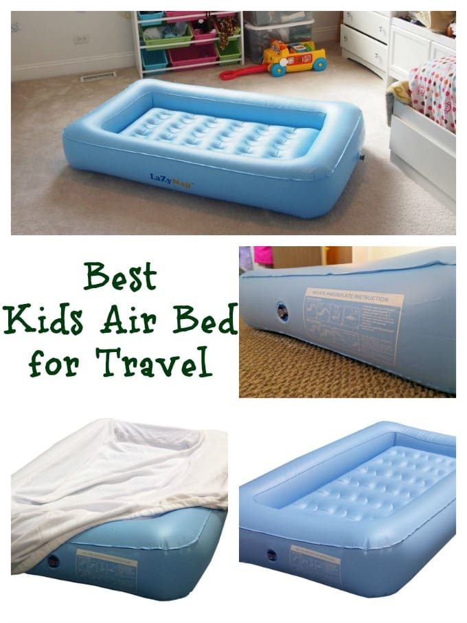 Traveling with Kids? LazyNap Kids Air Bed perfect for Holiday travel