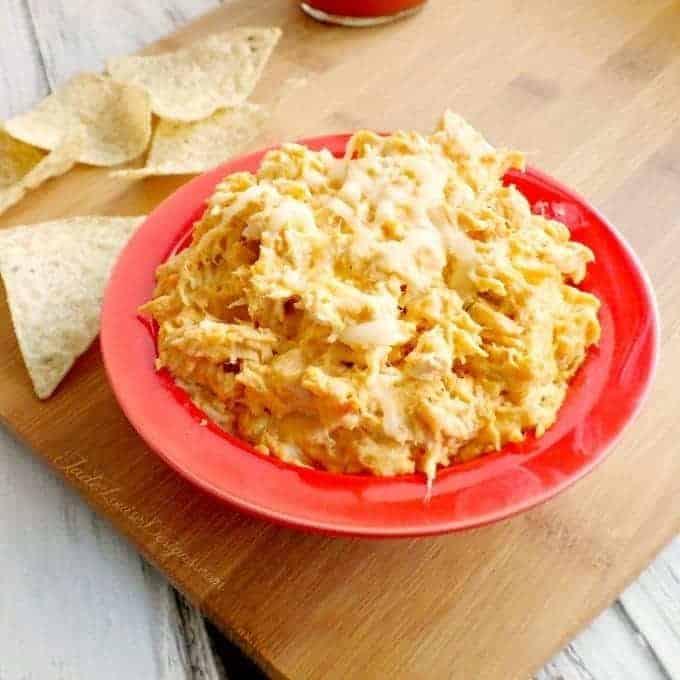 Cheesy Buffalo Chicken Dip Recipe #FranksRH