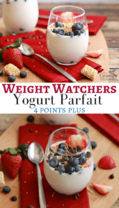 Easy Weight Watchers Fruit Yogurt Parfait only 4 Points Plus