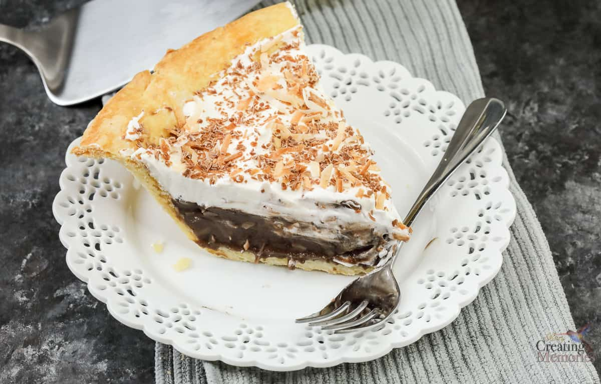 The Best Ever Chocolate Coconut Cream Pie Recipe w/ dairy free variation