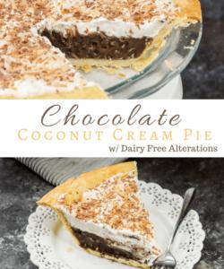 The Best Ever Chocolate Coconut Cream Pie Recipe