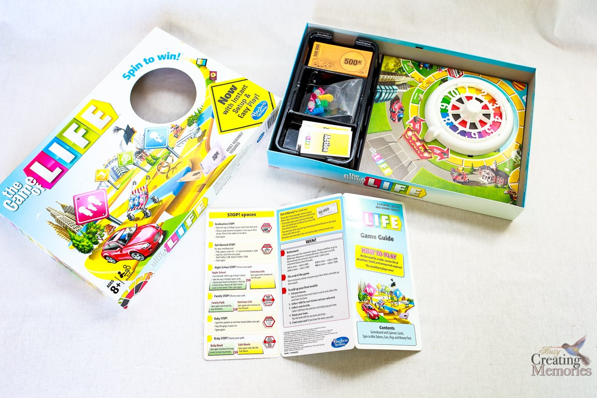 The New Game Of Life By Hasbro With Instructions