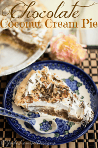 Chocolate Coconut Cream Pie Recipe!