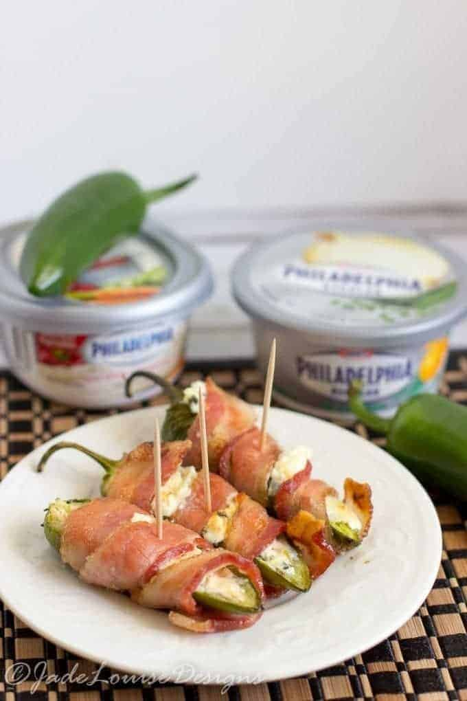 Bacon Wrapped Stuffed Jalapenos Appetizer Recipe