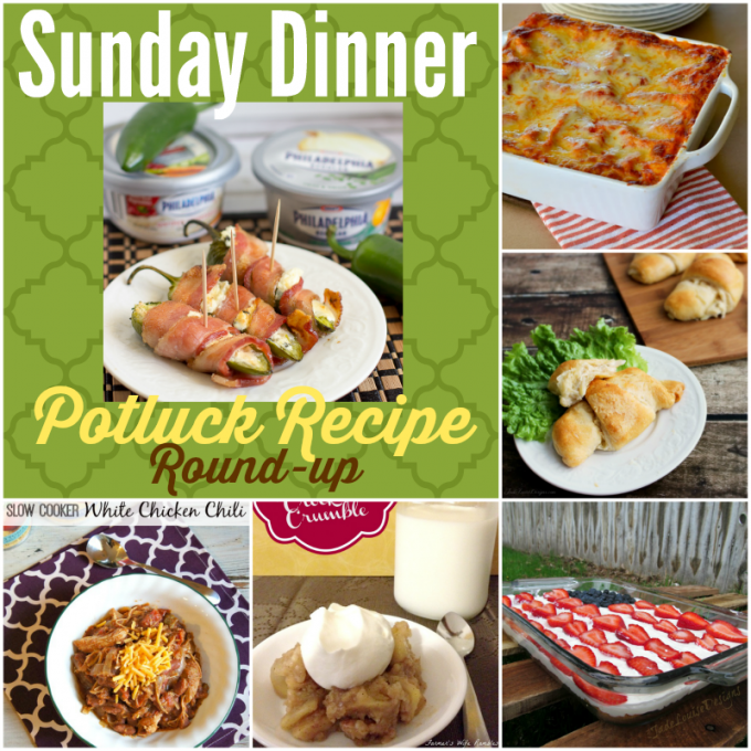 Sunday Dinner Potluck Recipe Round-up