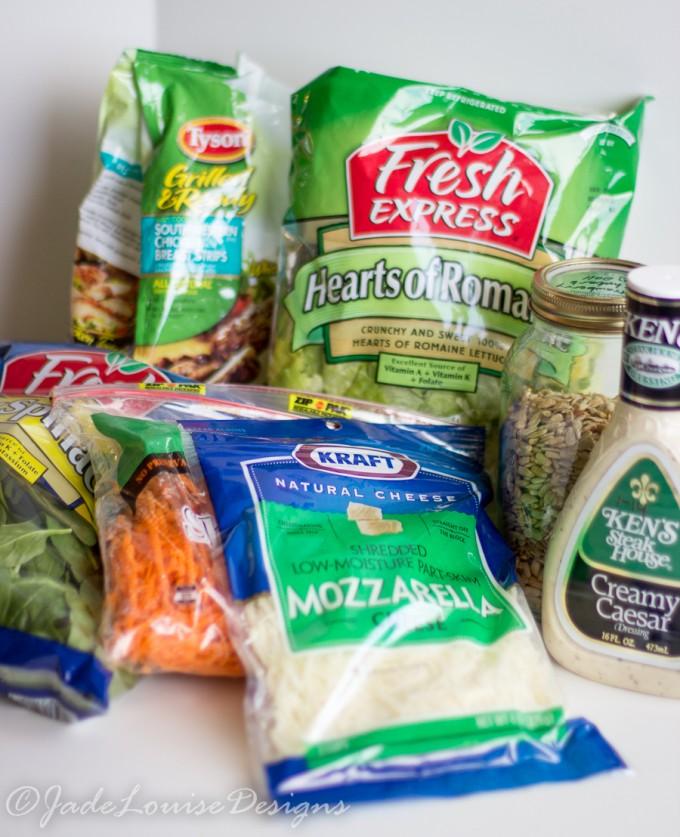 Express Chicken Caesar Salad Recipe; A healthy and Fresh Express lunch full of flavor. #saladswap #momsmeet