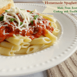 Homemade Spaghetti Sauce Recipe from Food Storage | Cooking with Food Storage Series