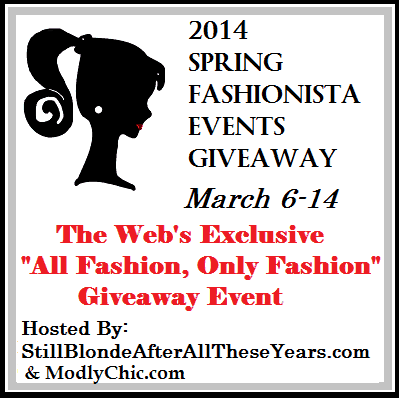Spring Fashionista Event 2014 Coming soon! March 6-14, 2014