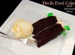 Grandma Maurine's Red Devils Food Cake Recipe, Extra Moist Homemade Chocolate cake recipe