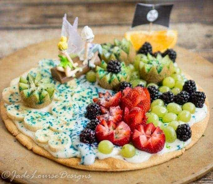 Pixie Hollow Fruit Pizza; Healthy The Pirate Fairy Inspired Recipe with Blue Pixie Dust #ProtectPixieHollow