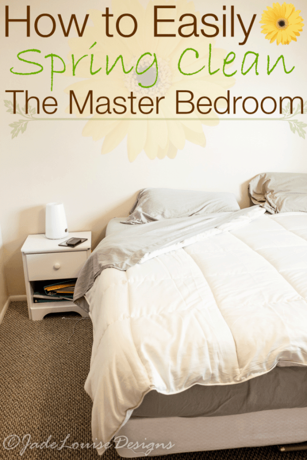 How to Spring Clean the Master Bedroom; Plus Nature's Sleep Discount code #NaturesSleep