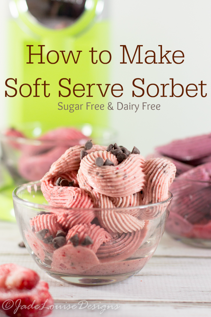Easy Fruit Sorbet; Frozen Fruit Desserts with Swirlio, No sugar & No dairy needed.