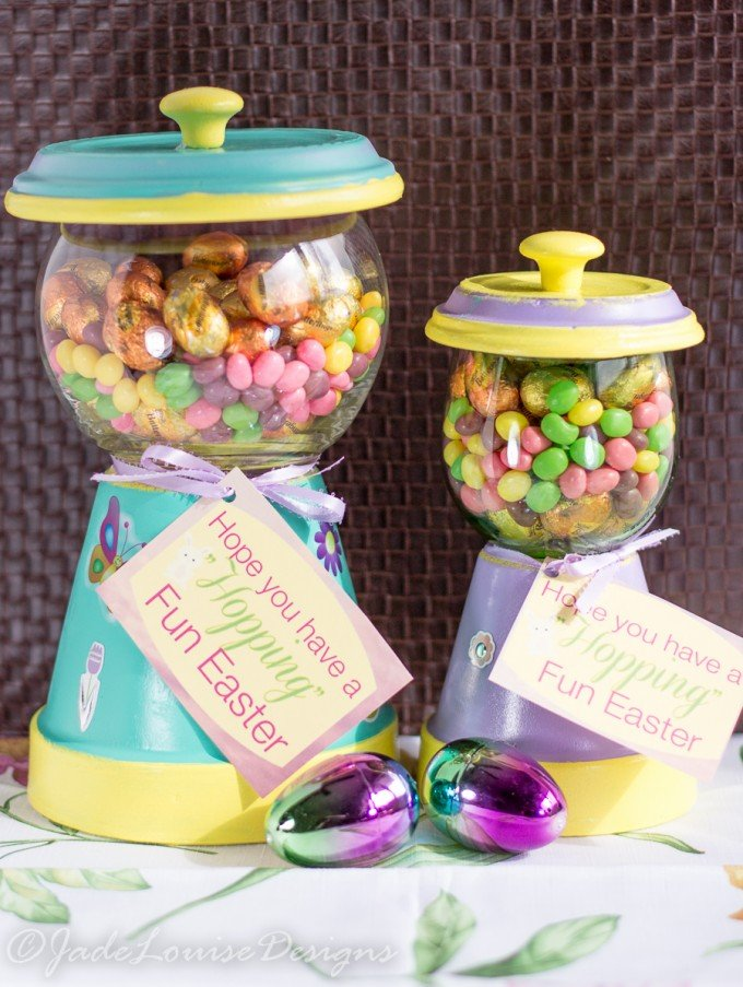 Best Easter Candy Jar Craft Ever! Nestle Easter Candy filled Gumball Machine Candy Jar Tutorial #NewFavorites