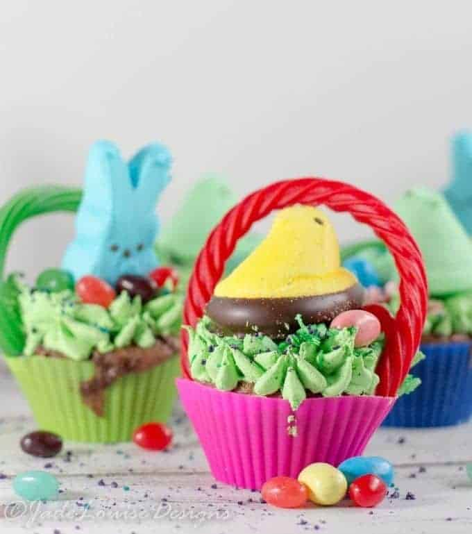 PEEPS Easter Cupcakes! Create Mini Easter Basket cupcakes