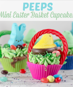 PEEPS Easter Cupcakes! Create Mini Easter Basket cupcakes