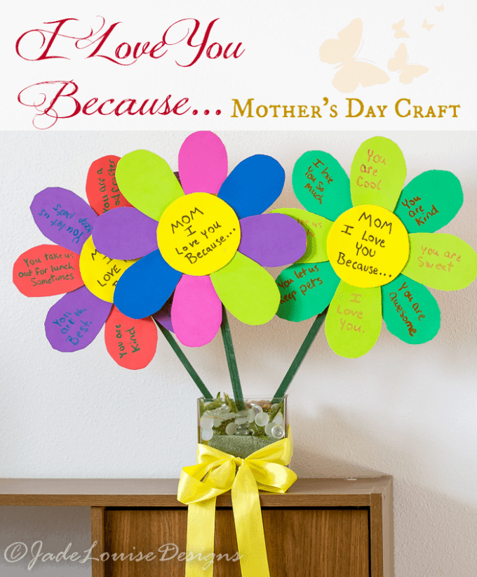 mother day crafts i you because mothers day craft flowers for to 2509
