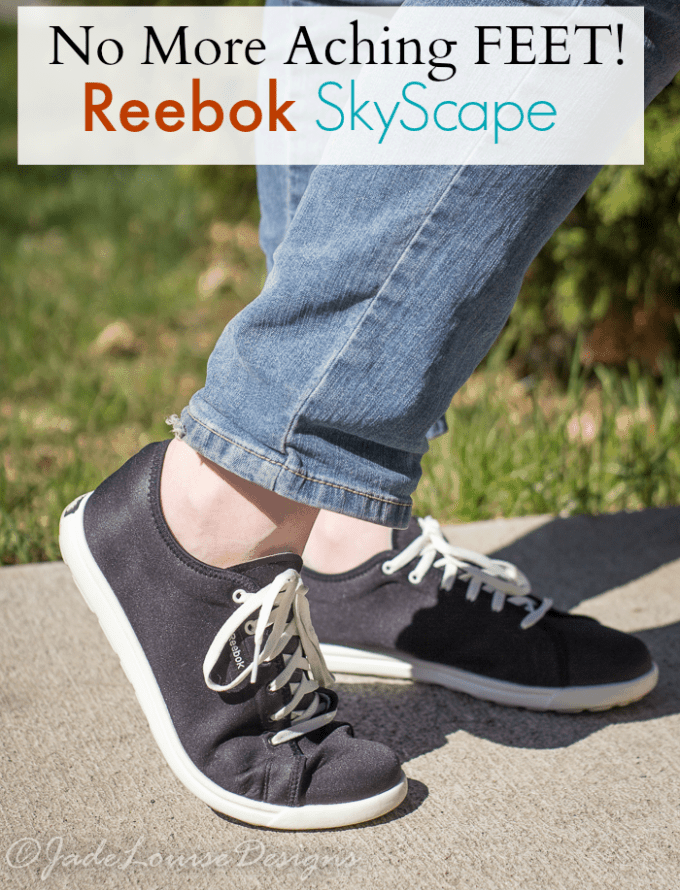 Free yourself from Tired & Aching feet with Reebok Skyscape shoes! #Skyscape