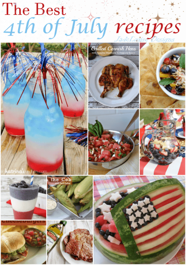 4th of July Recipes to complete your Independence Day celebration!