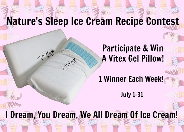 Homemade Ice Cream Rocky Road Recipe and Sleeping In! Win a Vitex Gel memory foam pillow. New winner each week! #NaturesSleep