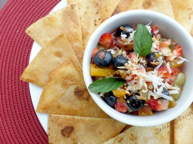 Fresh Fruit Salsa & Cinnamon Chips