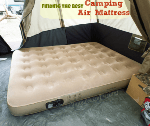 Finding the Best Camping Air Mattress | Insta-bed Queen air mattress for outdoor use.