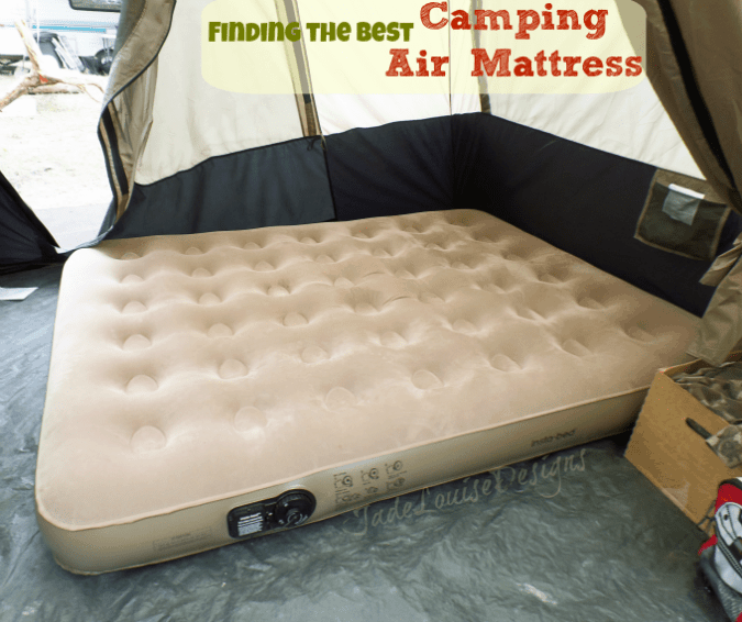 Finding the Best Camping Air Mattress | Insta-bed Queen air mattress for outdoor use.