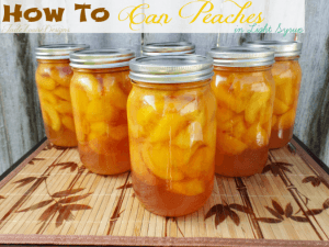 How to can Peaches with low sugar option