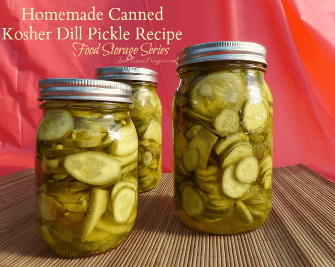 Canned Dill Pickle Recipe Homemade pickles