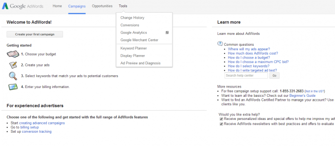 How to use Adwords Keyword Planner Part 1 on how to improve SEO