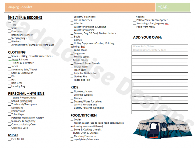 image about Camping Food List Printable identify How towards help you save upon Tenting fundamental principles with Paperless discount codes