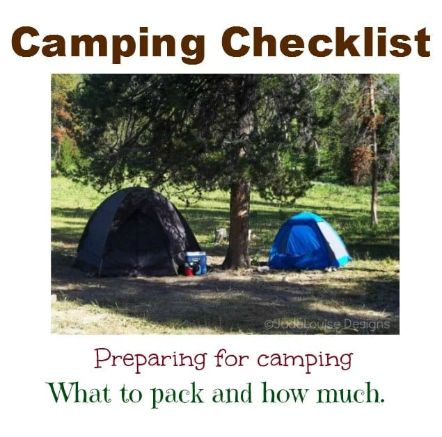 Camping Checklist, Preparing for Camping