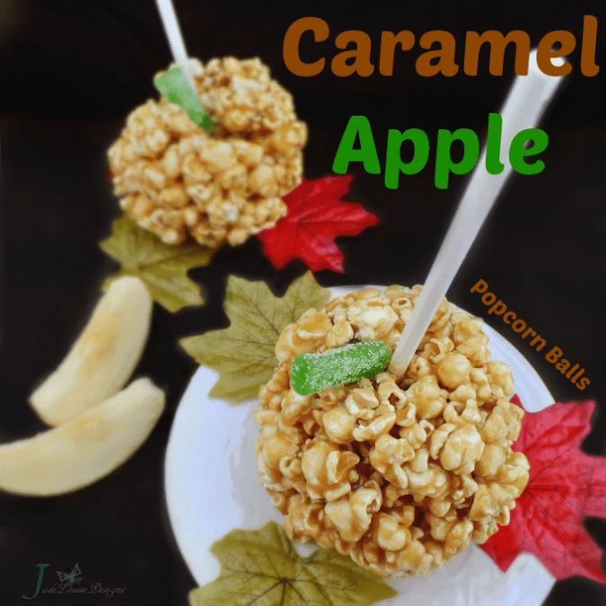 Caramel Apple Popcorn Balls Recipe #popcornballer