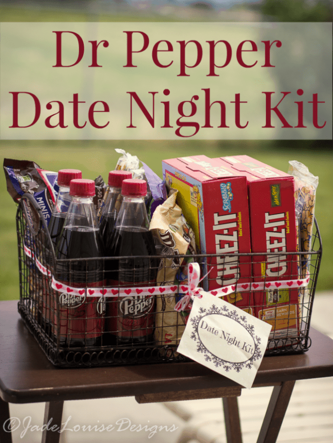 Dr Pepper Date Night Kit for a last minute Backyard Bash