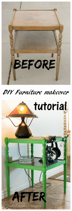DIY Furniture Makeover; DIY Side Table Makeover