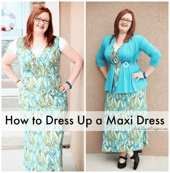 Dress up a maxi dress