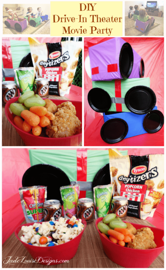 DIY Drive-In Theater Movie Party- Family Night Dinner and a Movie night