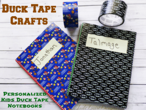 Duck Tape Crafts | Personalized Kids Duck Tape Notebook craft
