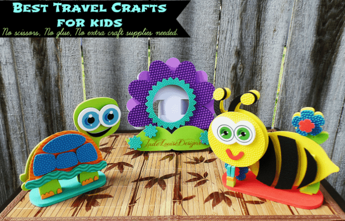 Best Travel Crafts for Kids! Bring the kids crafts on your next vacation.