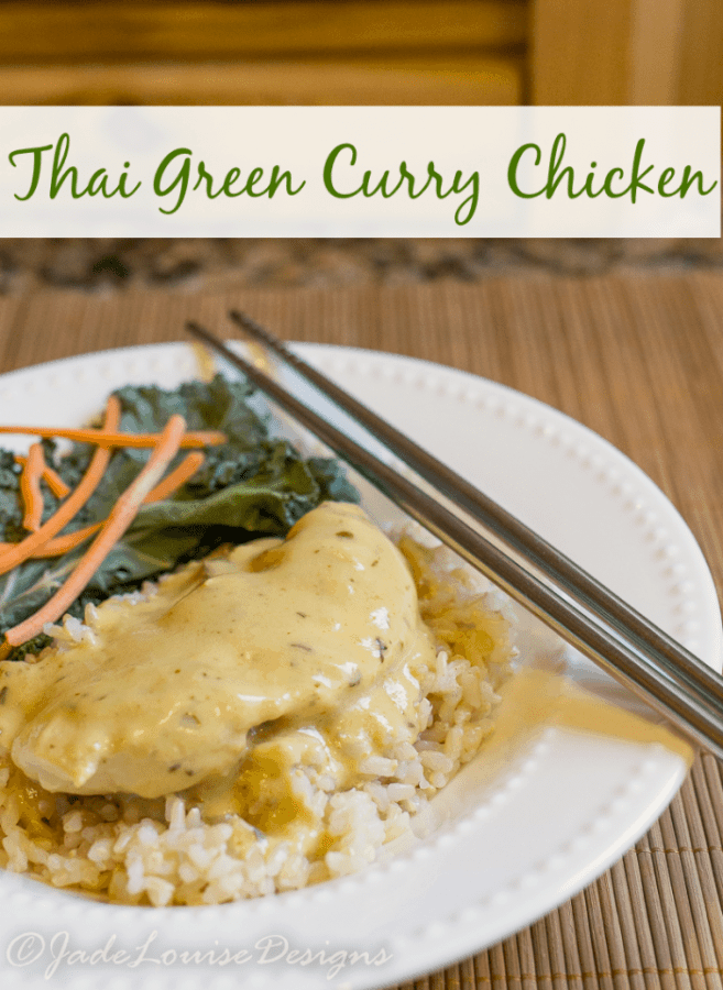 Easy Thai Green Curry Chicken Recipe plus Nutrish for cats to keep them from eating YOUR food.