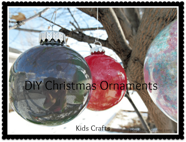 DIY Christmas ornaments, simple Kids Crafts, great gifts for Grandparents.