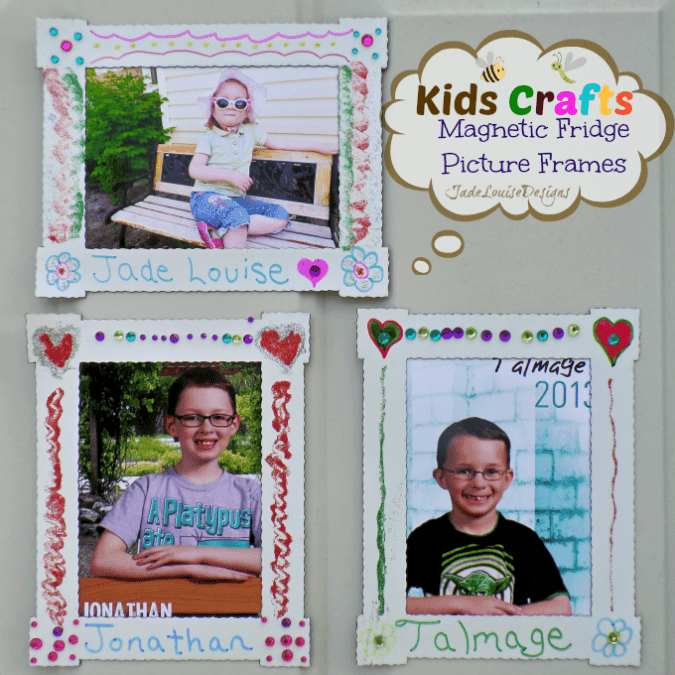 Kids Craft DIY Magnet Fridge Frames with BIC Mark it markers #BICMarkIt