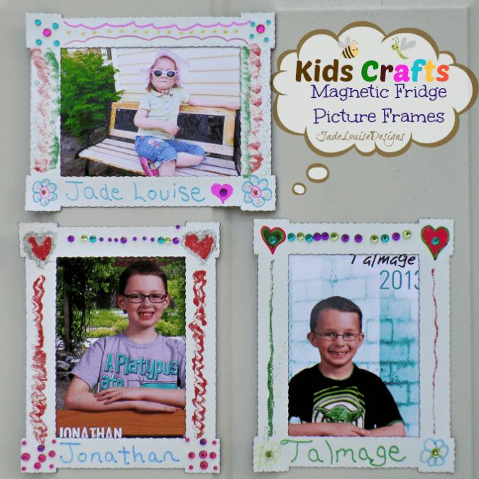 Kids Craft DIY Magnet Fridge Frames with BIC Mark it markers #BICMarkIt