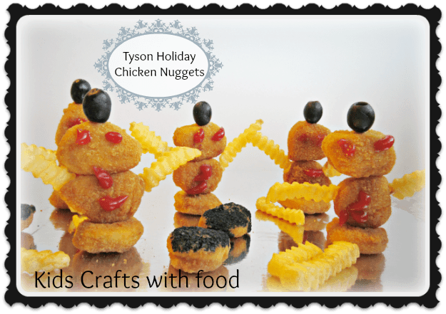 Kids Crafts; Holiday Tyson Chicken Nuggets creative food ideas #Mealstogether