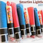 Smarties Lightsaber Halloween Handout Treat & Kids Craft