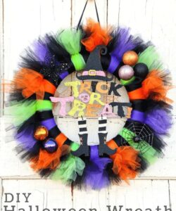 How to Make a Tulle Halloween Wreath Tutorial