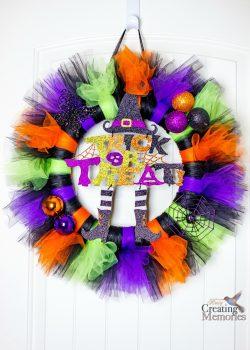 Tutu Halloween Wreath Tutorial