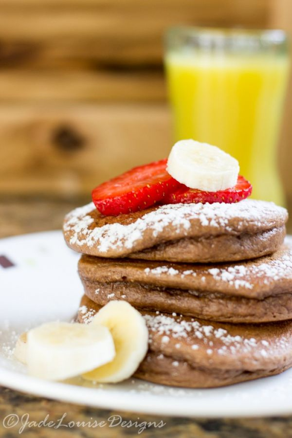 Chocolate Peanut Butter Pancakes Recipe, nutritious breakfast!