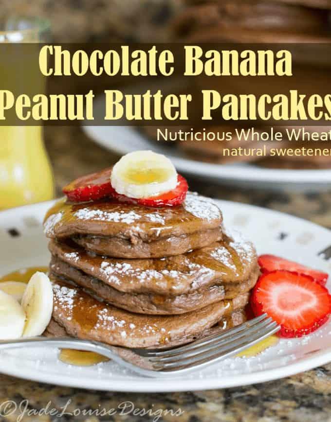Chocolate Peanut Butter Pancakes Recipe a nutritious breakfast!