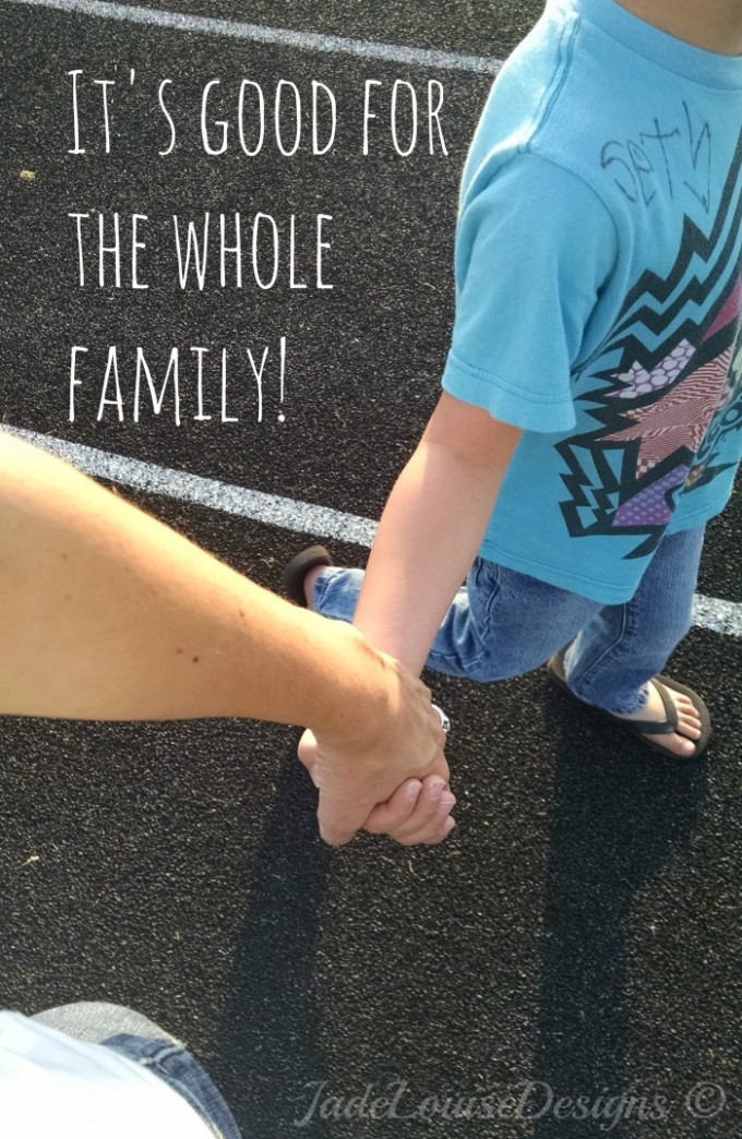Walking as a family